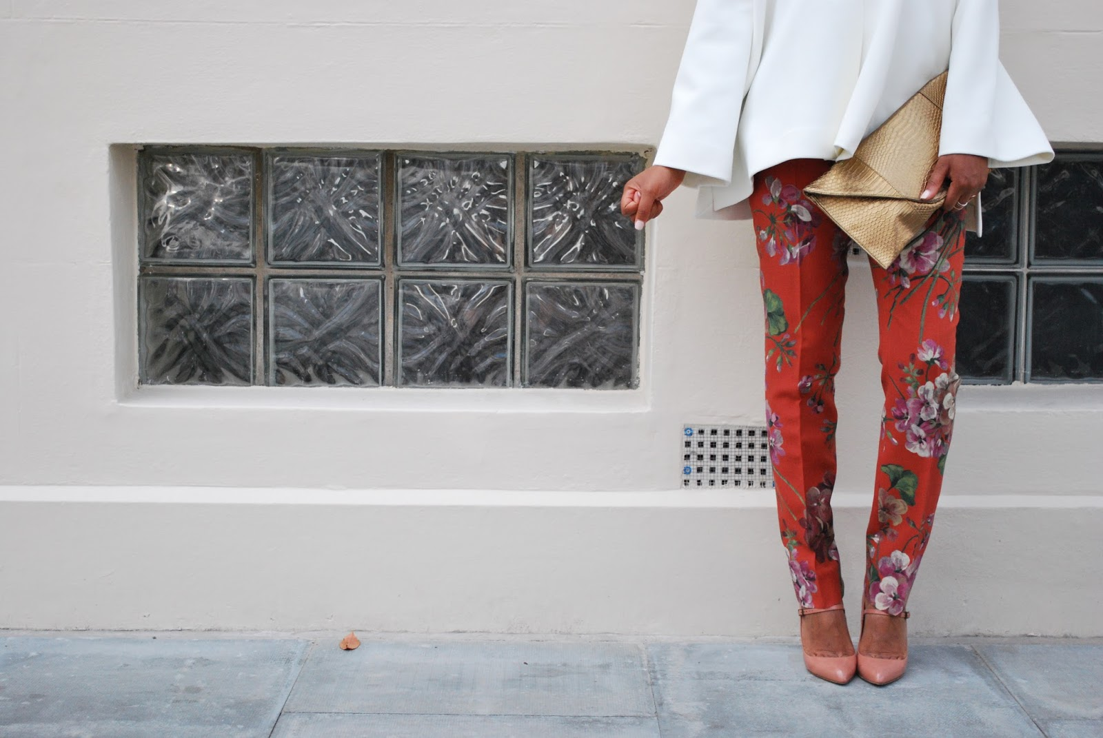 Floral print Gucci Trousers / Where to find sample sales in London / Ou trouver les ventes privées a Londres ?