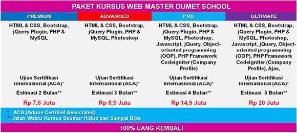 Kursus Web Master DUMET School