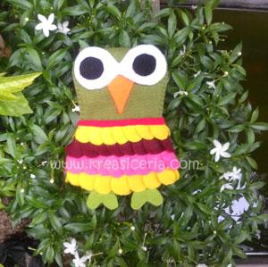 Membuat Sarung HP Owl Unyu-Unyu dari Kain Flanel