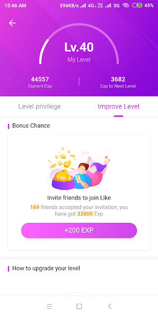 How to increase like app