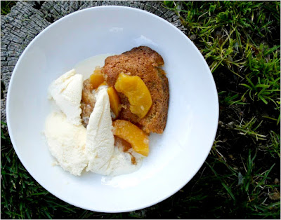 easy recipe, peach dessert