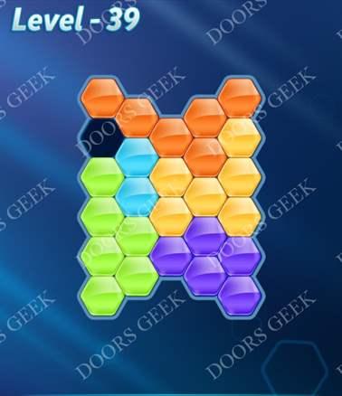 Block! Hexa Puzzle [6 Mania] Level 39 Solution, Cheats, Walkthrough for android, iphone, ipad, ipod