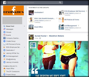 Jabong launches its social intranet platform on mobile devices - Destination f!