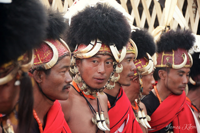 Khiamniungan Naga tribesmen perform traditional dance in costumes at Nagaland Hornbill Festival 2015 3