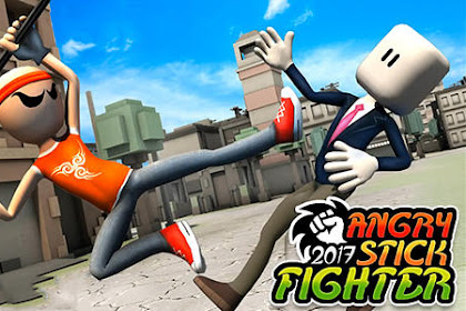 Download Game Angry Stick Fighter 2017 v1.1 3D Apk Mod For Android Terbaru