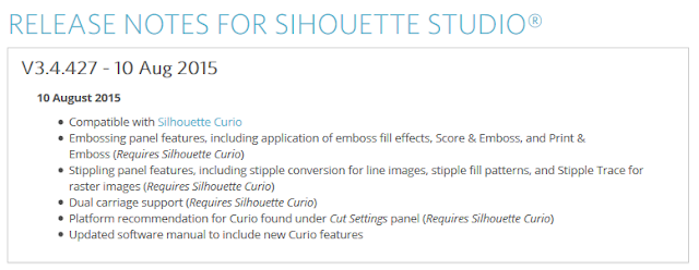 http://www.silhouetteamerica.com/software/release-notes/137
