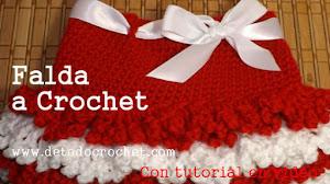 Falda para niña al crochet - paso a paso en video