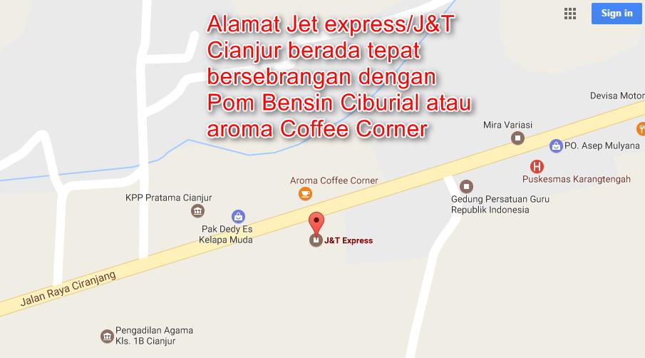 Alamat Kantor J&T/ Jet Express Cianjur