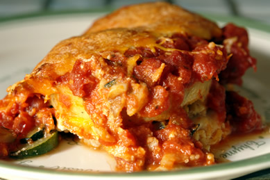 Gluten-Free Recipe : Polenta Vegetable Lasagna