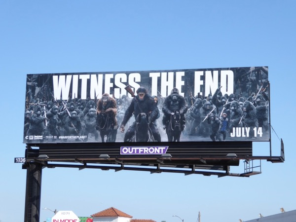 War for Planet of Apes movie billboard