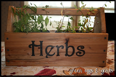 "Handpainted ""herbs"" sign"