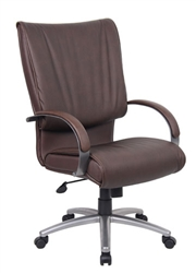 Brown Leather Conference Chair