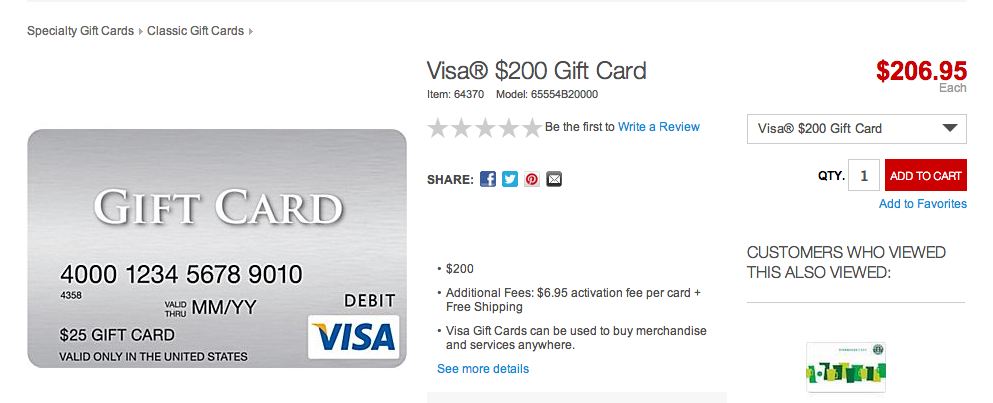 Oren's Money Saver: Staples is Selling $200 Visa Gift Cards