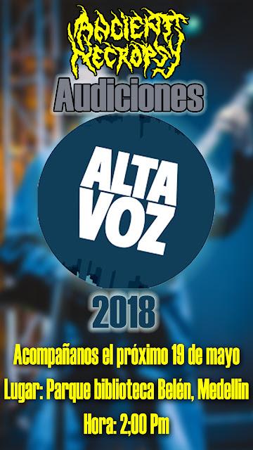 altavoz fest 2018, medellín, Metal colombiano, Ancient Necropsy