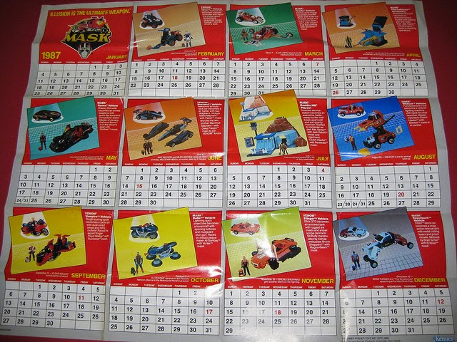 Celebrate M.A.S.K.'s 30th Anniversary In 2015 By Using Your 1987/88 Calendar Insert!