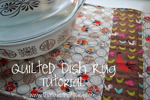 Quilted Dish Rug {tutorial}