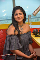 Mega Akash in a sleeveless Off Shoulder Cute Dress Stunnign beauty at Radio Mirchi Promoting Movie LIE ~ Celebrities Galleries 029.JPG