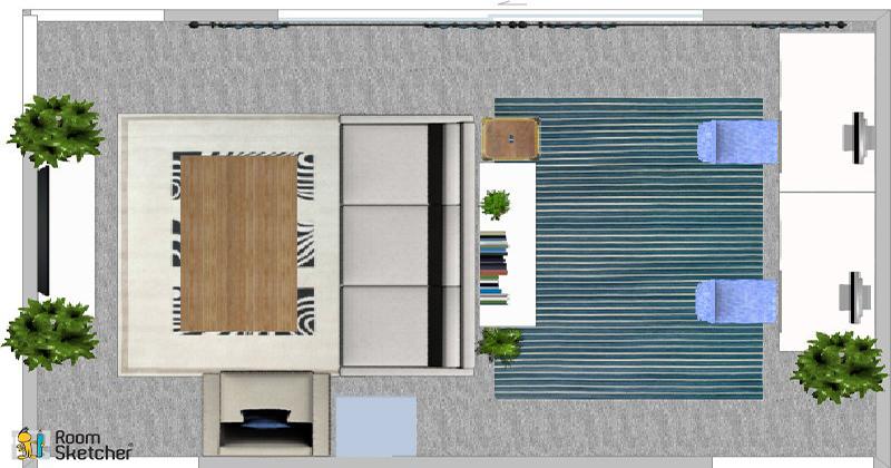 2D floor plan of live/work space