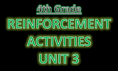 Reinforcement Exercises Unit 3