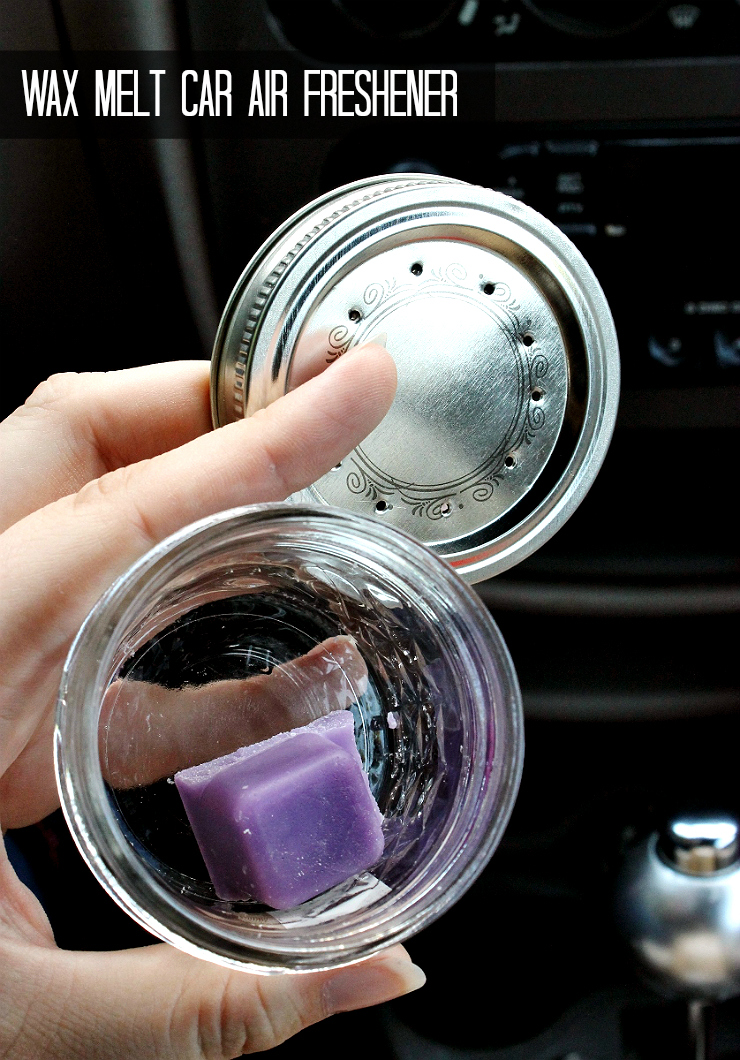 Car Hack: D.I.Y. Wax Jar Air Freshener #RoadTripOil #AD