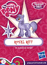 My Little Pony Wave 16A Royal Riff Blind Bag Card