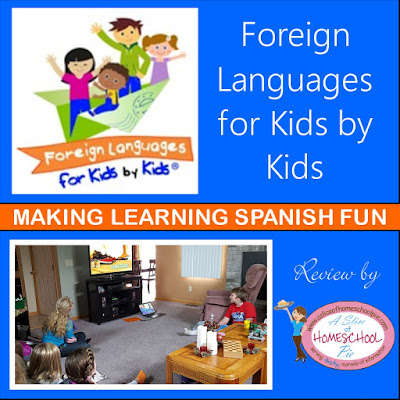 A review about Foreign Languages for Kids by Kids which teaches students the Spanish Language. Written by ASliceOfHomeschoolPie.com