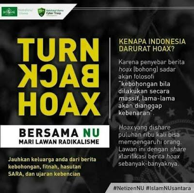 Perangi Berita Bohong, PBNU Bikin Gerakan 'Turn Back Hoax'