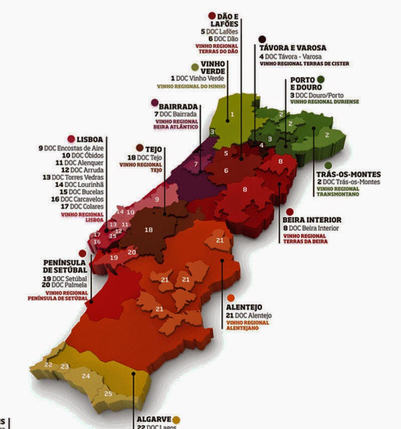 mapa de portugal 2014 In Vino Viajas : Conheça os 1.752 vinhos de 397 vinícolas  mapa de portugal 2014