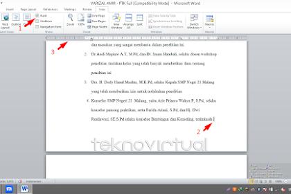 Cara Membuat Salah Satau Halaman atau Lebih Menjadi Landscape Pada Microsoft Office Word