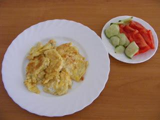 omleta, salata, retete de mancare, mic dejun, fel de mancare, retete rapide si simple, retete culinare,