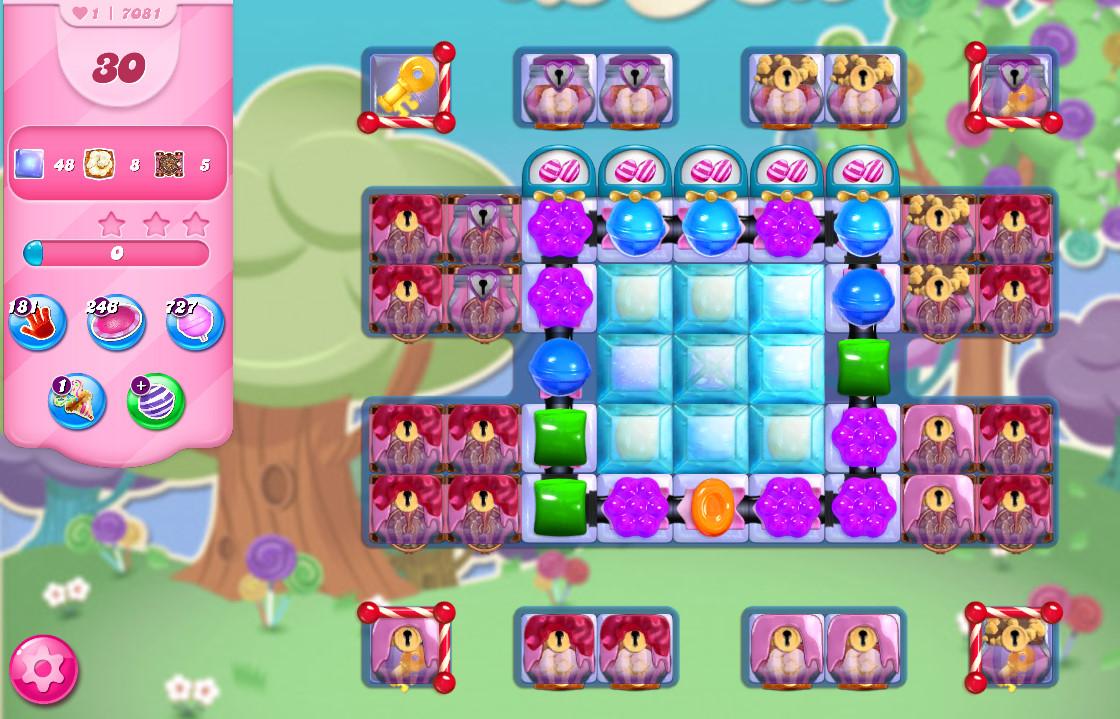 Candy Crush Saga level 7081