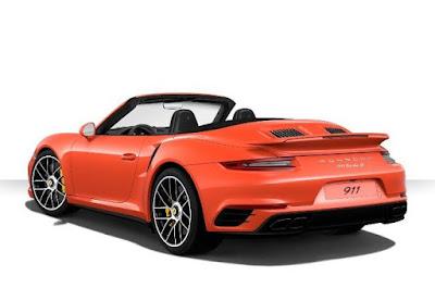 exterior color: Porsche 911 Turbo S Cabriolet with special color