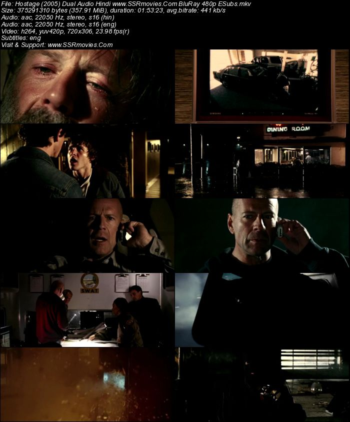 Hostage (2005) Dual Audio Hindi BluRay 480p 300MB ESubs