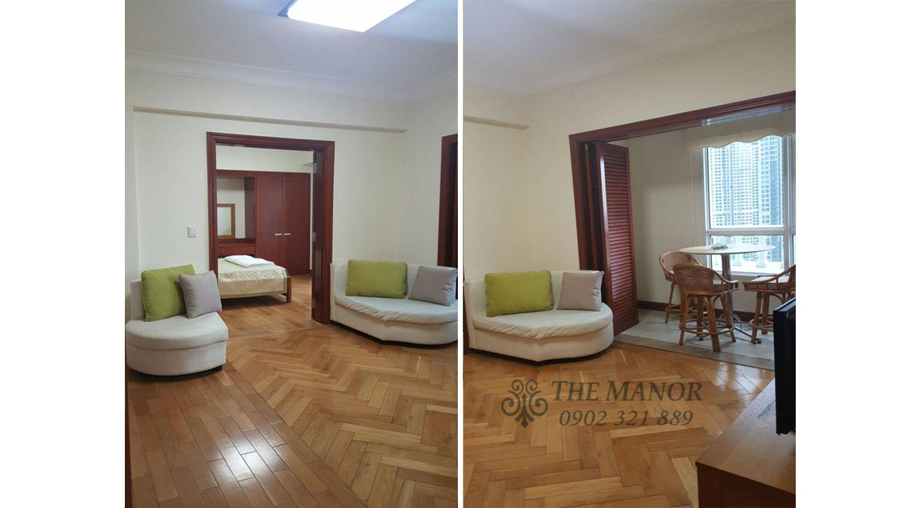 bán gấp hoặc cho thuê căn hộ The Manor 136m2 - không gian phòng khách