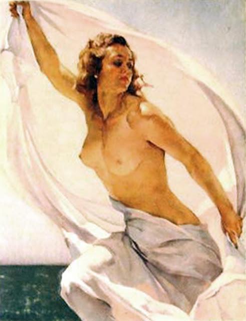 En la playa, Francisco Pons Arnau, Pintores Valencianos, Pintor español, Pintor Valenciano, Pintura Valenciana, Impresionismo Valenciano