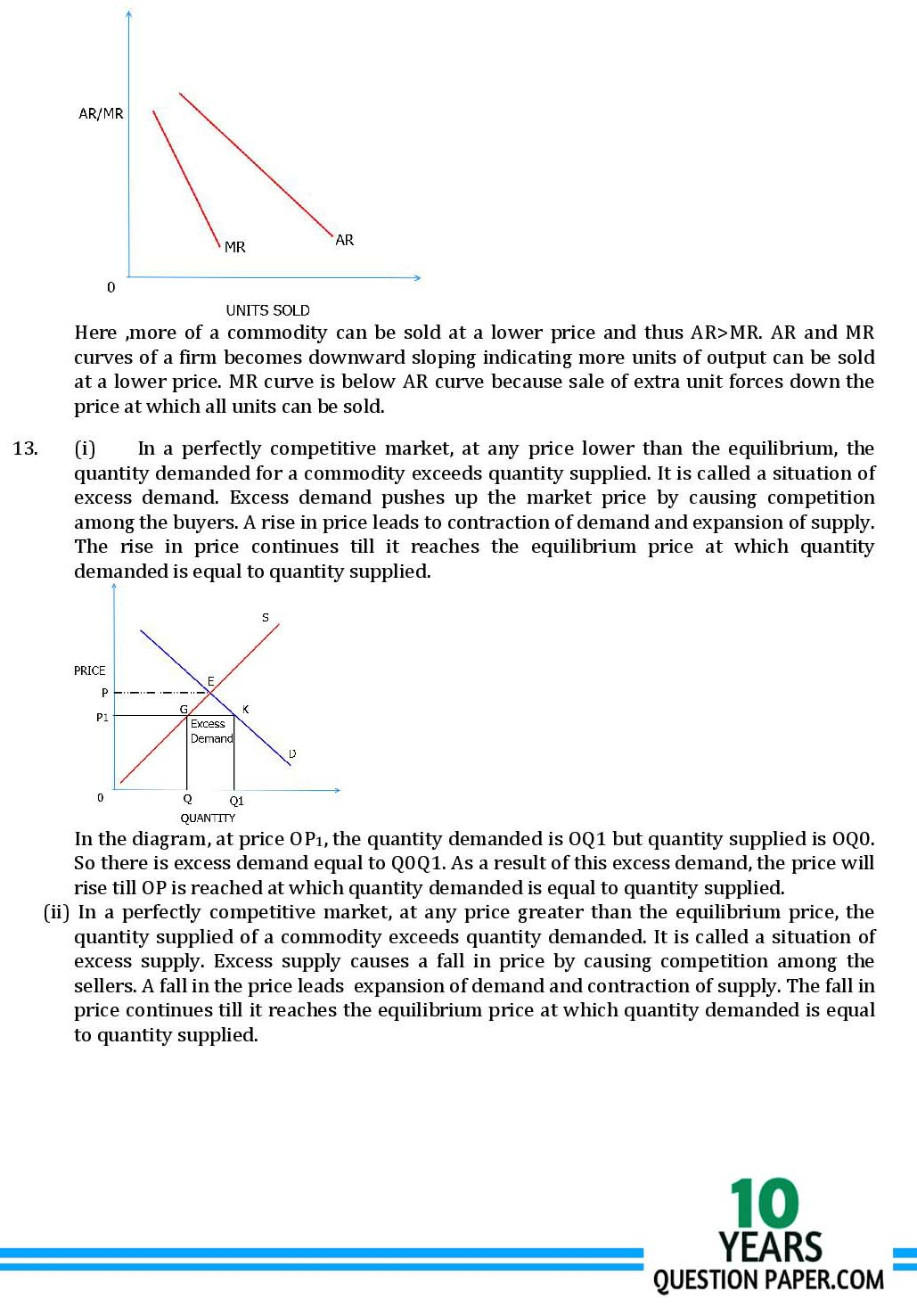 CBSE class 12th Economics solved sample paper 2018