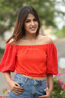 Rhea Chakraborty in Red Crop Top and Denim Shorts Spicy Pics ~  Exclusive 220.JPG