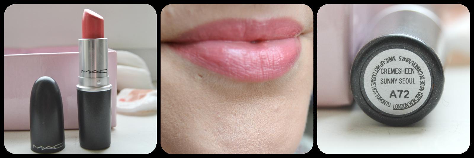 Mac, Cosmetics, Lipstick, Lippenstift, Swatch, Sunny Seoul, Swatches, Lipswatch, Cremesheen