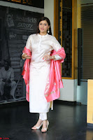 Mannara Chopra in Silky White Salwar Suit with Pink Chunni Latest Exclusive Pics March 2017 ~  043.JPG
