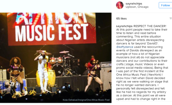 Why Kaffy lashed Davido revealed by US Dancer