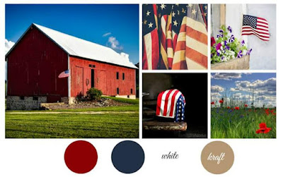 USA flag Card SumMoreFun Mood Board Challenge 28