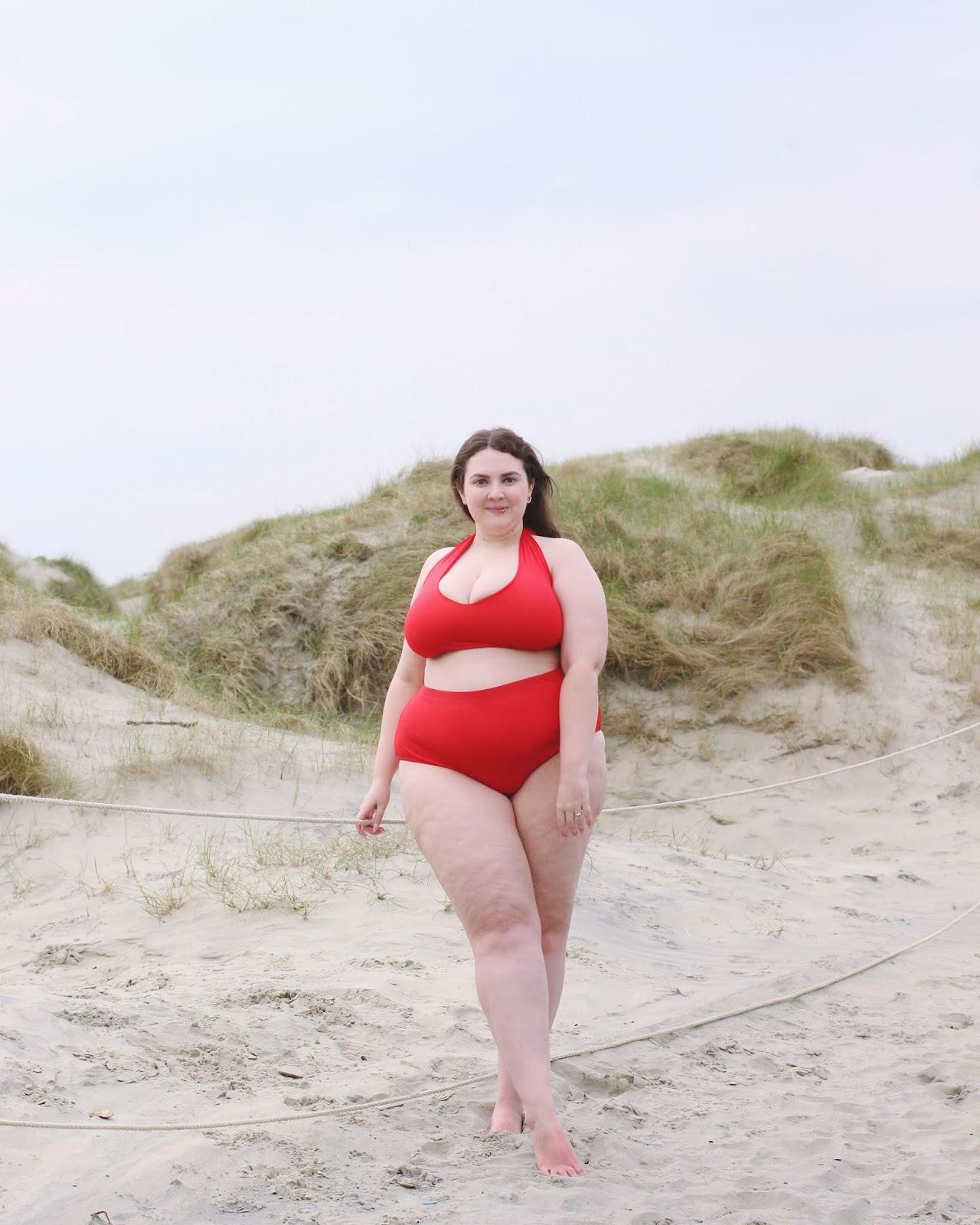 Red plus size PLT bikini