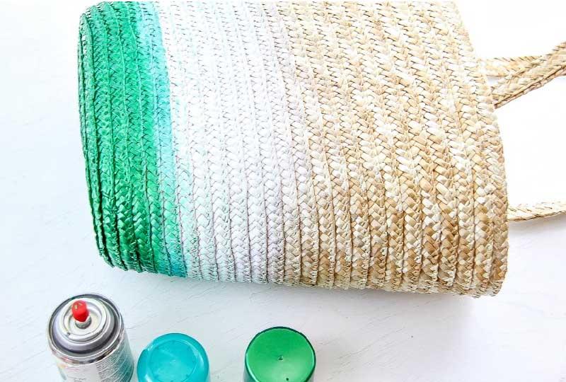 come colorare la borsa di paglia