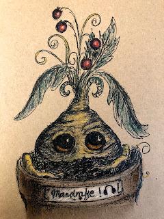 How to draw Mandrake. Harry Potter