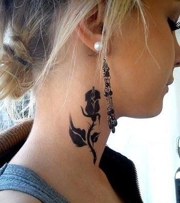 female neck tattoos
