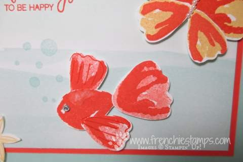 Punch Art Fish and Butterfly, Blossom Builder Punch Stampin'Up!, frenchiestamps