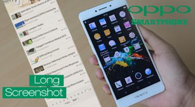 Cara Screenshot Panjang di Smartphone Oppo semua Tipe