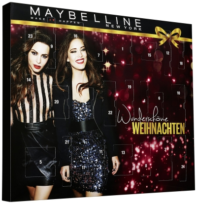 Maybelline beauty Advent calendar 2016 calendrier de l'avent Adventskalender