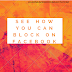See how you can block on Fb