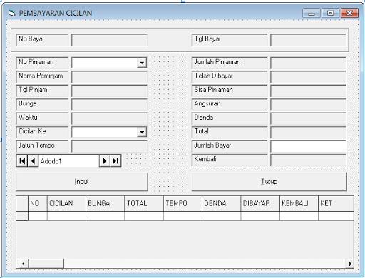 Download Coding Program Peminjaman Bank vb6, Program Peminjaman Bank Lengkap Di Visual Basic 6.0, Source Coding Program Peminjaman Bank Lengkap Di Visual Basic 6.0, download Coding Program Peminjaman Bank vb6